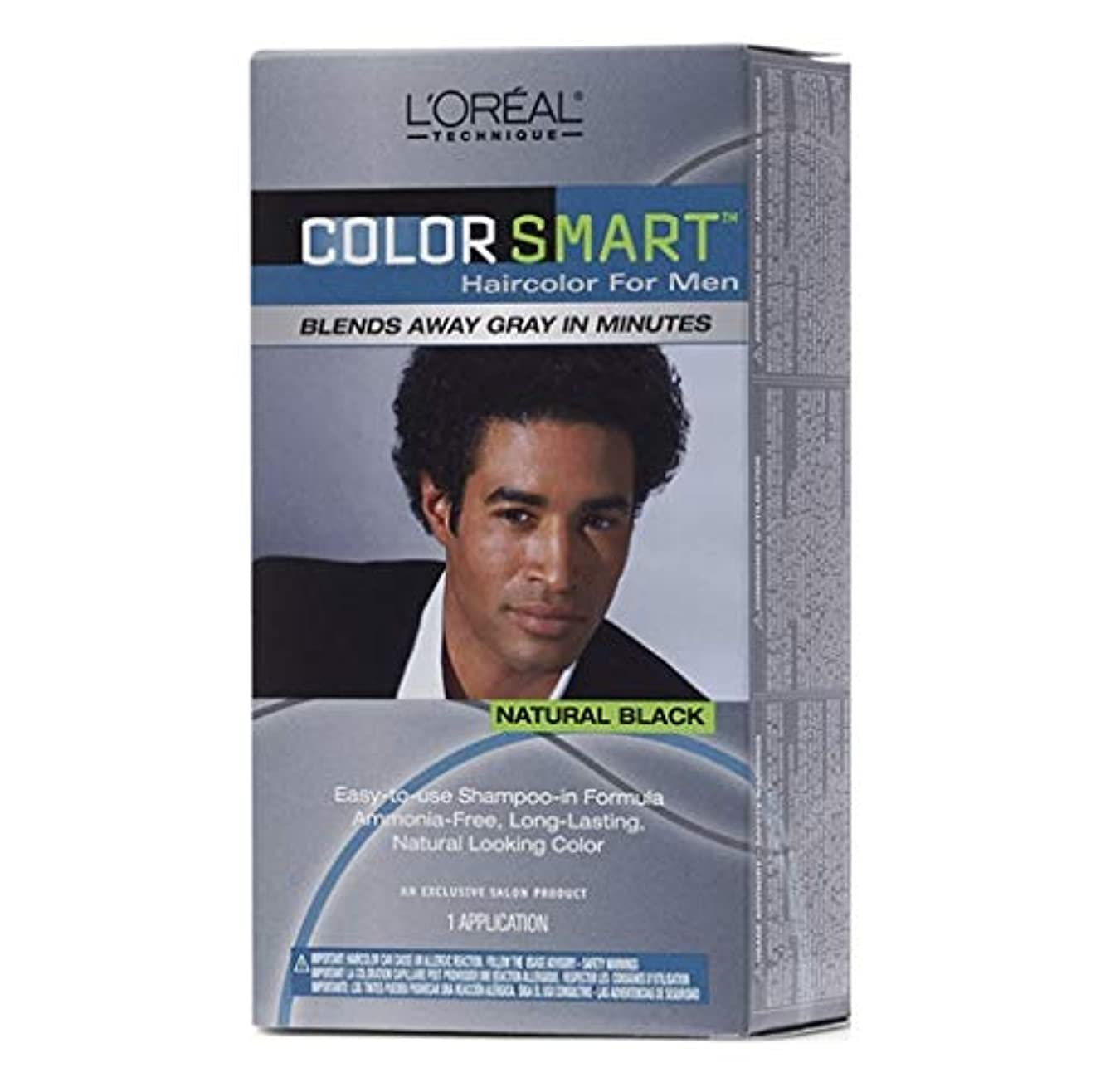強制患者犠牲L'Oreal Technique - Color Smart for Men - Natural Black KIT