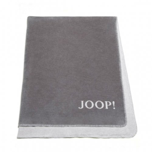 Preisvergleich Produktbild Joop! Plaid Uni-Doubleface / Graphit-Rauch - 150 x 200 cm