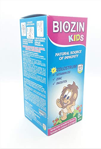 Biozin Kids Syrup with Colostrum, Natural Source of Immunity 100ml for 0+ Age