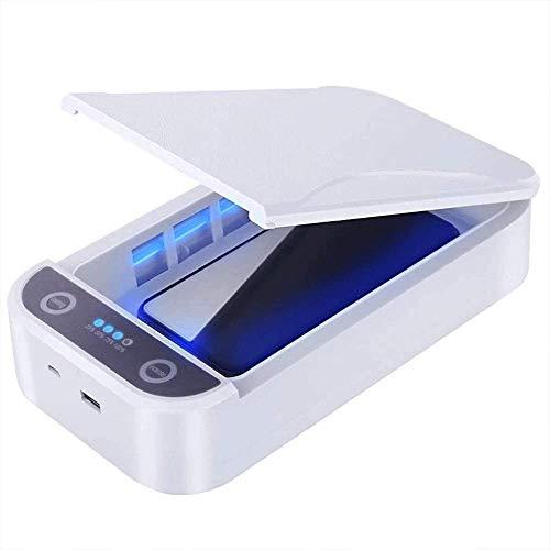 Étui de stérilisateur désinfectant UV pour Masques faciaux, Smartphone, Outils de Beauté, Tue 99,9% des virus, Germes et Bactéries avec Rechargeable USB.
