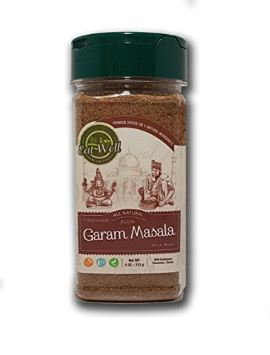 Garam Masala Spice Blend | 4 oz - 113 g | SALT FREE | Authentic Indian Food Spices | Gluten Free | by Eat Well Premium Foods |