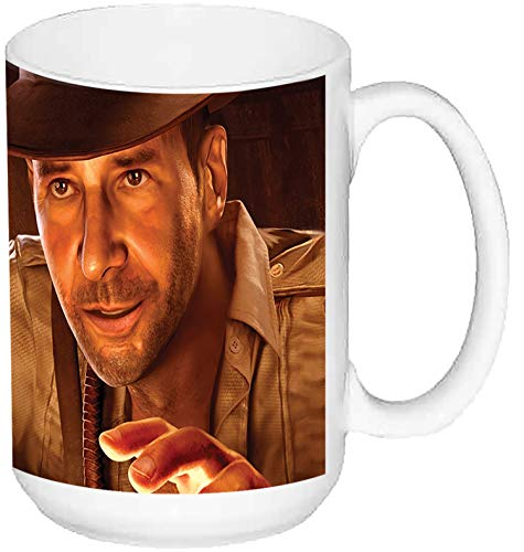 Indiana Jones and The Staff of Kings Taza Grande Ceramica 15 oz ≈ 443 ml