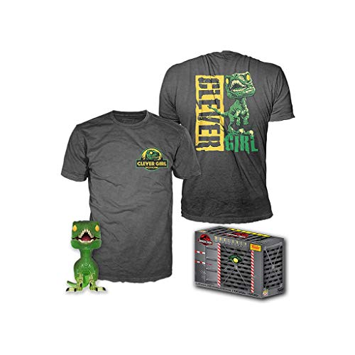 Funko Jurassic Park POP! & Tee Box Clever Raptor Pop Vinilo & T-shirt Set (grande)