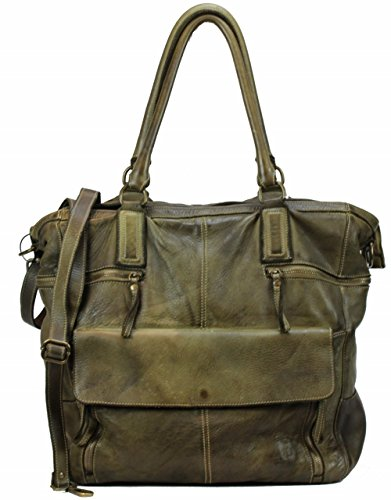 BZNA Bag Boney grün green used look Italy Designer Damen Handtasche Ledertasche Schultertasche Tasche Leder Shopper Neu