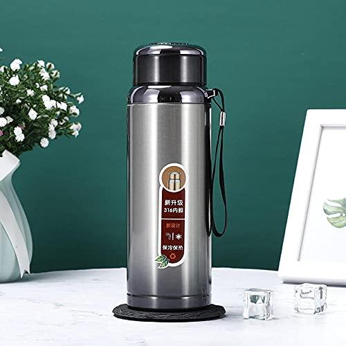 Botella de Agua Deportiva,Prueba de Fugas, Botella Agua Reutilizable para Excursionismo, Ciclismo, Running, Acampada, Gimnasio y Viajes -Gris gris_1000ml