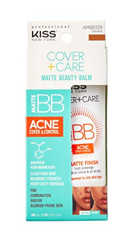 Ruby Kiss Cover + Care Acne Control Matte Finish Beauty Balm- AMBB339 (Matte-Coconut)