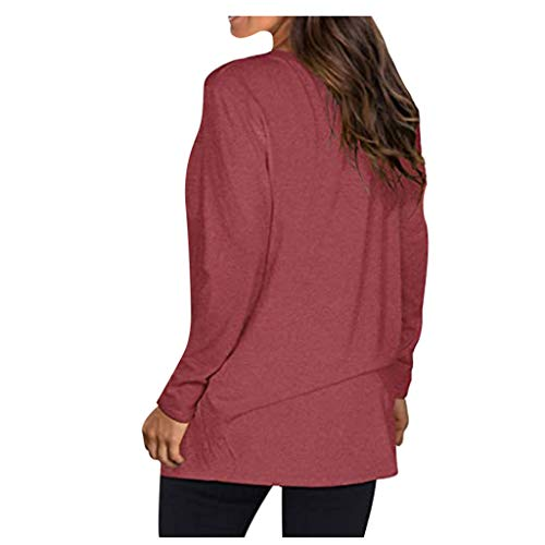 Shirt Luv V Neck Tunic Tops Fall/Winter Women's Fall/Winter Pocket Solid Color Blouse Women's Blouse