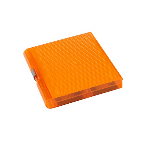 Heathrow Scientific 120577 Premium Plus Microscope Slide Box, 100 Slides, Slide Storage Box, Removable Inventory Card, Orange (Pack of 5)