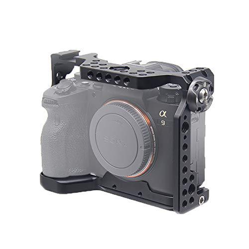 対応 SONY ソニー PEN A7R IV A9 II A7RM4 Alpha 7R IV 9 II ソニーアルファ 7R IV 9 II カメラ 専用 ケージ 超拡張性 Arri規格のネジ穴がある Arca規格プレートがあり DSLR 装備 拡張カメラケージ 軽量 取付便利 耐久性 耐腐食性 (A9IITL)