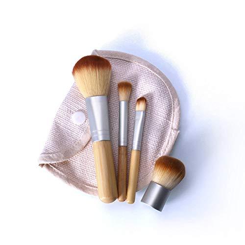 LEDADIE Makeup brush O.TWO.O 4PCS / LOT Bambou Brosse Fondation Pinceau Pinceau Maquillage Pinceau Poudre Pour Le Visage Cosmétique Pour LEDADIE Beauté Tool-9966