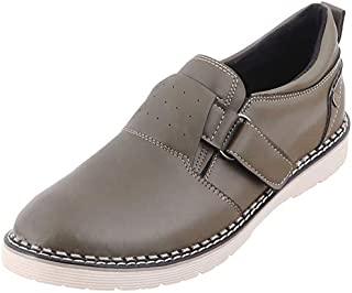 Grinta Faux-Leather Velcro Closure Casual Shoes with Pull Tab for Men