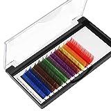 Scala 8-20mm to Choose 12 Lines 7 Colors Mixed One Tray False Eyelashes Individual Eyelash Extension Eye Lashes Individual Eyelash Extension Rainbow Colored Natural (15mm)