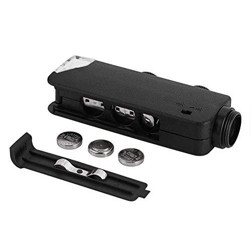 DAUERHAFT Lente de microscopio con Zoom óptico práctico y fácil de Transportar 60X-100X Lente de microscopio práctica para teléfonos con luz LED con Clip