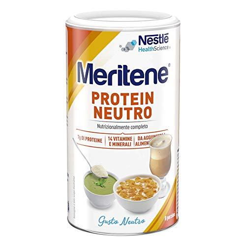 Meritene Protein Neutro Nestle|supporto nutrizionale ad alto contenuto proteico|Include 14 vitamine e minerali | Riduce la debolezza muscolare e la fatica|Ideale per alcune condizioni cliniche|270g