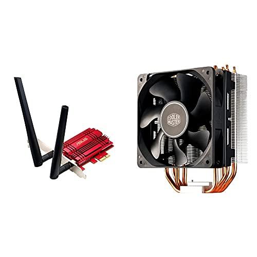 Asus Pce-Ac56 Adaptador Pci Express Ac1300 + Cooler Master Hyper 212X Sistema Refrigeración, Optimas Aletas Disipador Térmico, 4 Tubos De Calor Contacto Directo Continuo