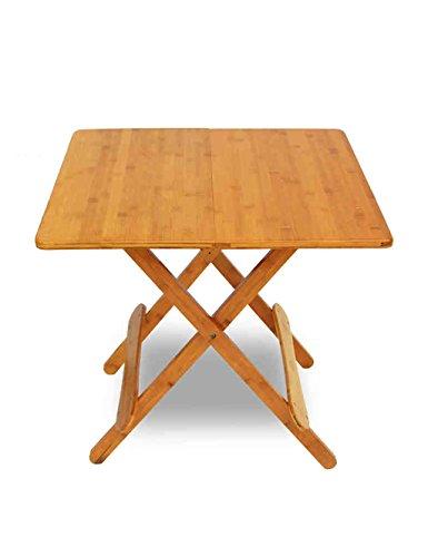 Table de Salle à Manger Table de Jardin Table de Salle à Manger Table de Table Bamboo (3 Tailles Disponibles) (Taille : L*W*H:60 * 60 * 57cm)