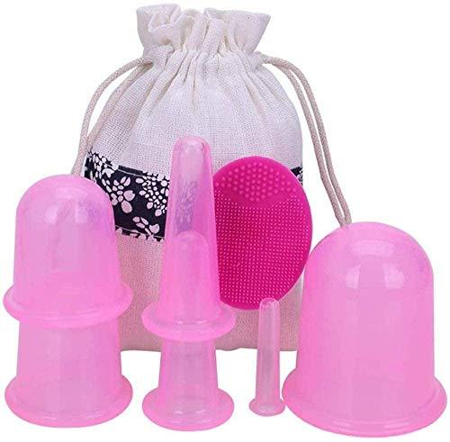 ZSXHMassagetassen Silikon-Schröpfen Explosionsgeschütztes Vakuum-Schröpfen ohne Glas 12 Dosen Home Health Massage Set Weiß