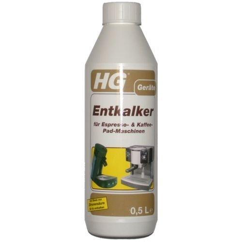 HG Entkalker für Espresso- & Kaffeepadmaschinen, 500 ml
