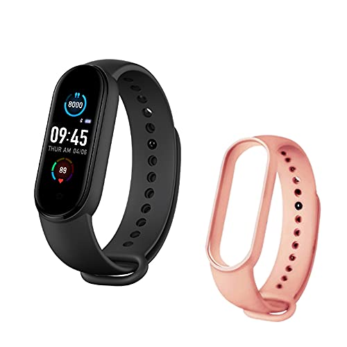 Fitness Tracker Activity Tracker Heart Rate Monitor Health Exercise Watch Sports Smart Watch Waterproof Smart Wristband with Magnetic Charging Step Calorie Counter 2PCS Wristbands