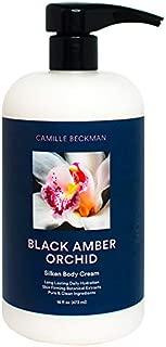 Camille Beckman Silken Body Cream, Black Amber Orchid, 16 Ounce