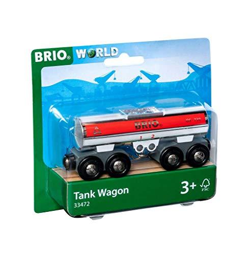Brio World WAGON CITERNE, 33472, Rouge E Gris