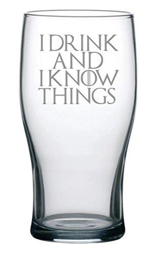 Juego de Tronos inspirado Tulip cerveza con 'I beber y Sé cosas' Quote
