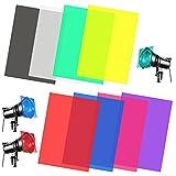YAXIDAEVER 8PCS Filtri Colorati Trasparenti 8 colori fotografica Filtri Colorati materiale in PVC filtro in gel colorato Per effetti di luce e correzione del colore