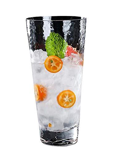 Jingyun Vaso de Agua fría Transparente Jugo de Vidrio Soda Vaso de Agua 1 PC, D07