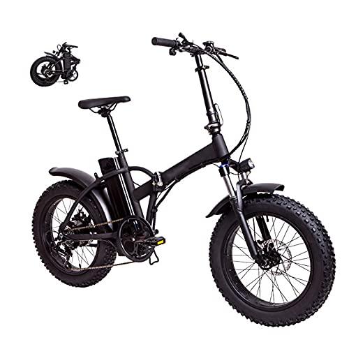 YIZHIYA Bicicleta Eléctrica, 20' E-Bike Plegable para Adultos con neumáticos gordos, Batería de Litio extraíble, Frenos de Disco Delanteros y Traseros, Bicicleta de montaña eléctrica