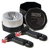 SOS LIGHT PK1921 Pack, portátil, Coche: rompeventanas y Cortador de cinturón, Seguridad Total, Luz 2 Martillo de Emergencia
