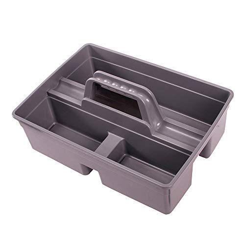 Jiaan Plastic Storage Tray Tote Versatile Multiuse Caddy with Attached Portable Handle to Organize and Carry Tools 149 * 108 * 45 inch High Capacity Gray