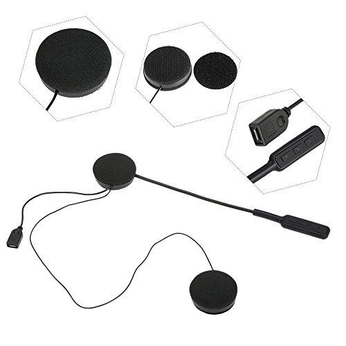 Docooler Motorcycle Helmet BT Headsets Wireless Headphones BT 4.0 Dual Stereo Speakers Hands-Free with Mic Earphone