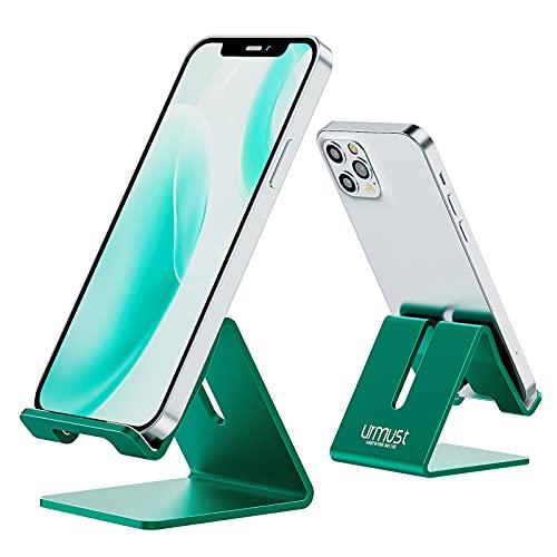 Urmust Z1 Handy-Ständer aus Aluminium für den Schreibtisch, robust, tragbar, universell, kompatibel mit allen Smarthones, Huawei, iPhone X, 8, 7, 6 Plus, 5, iPad, Mini-Tablet, für Büro, als Deko