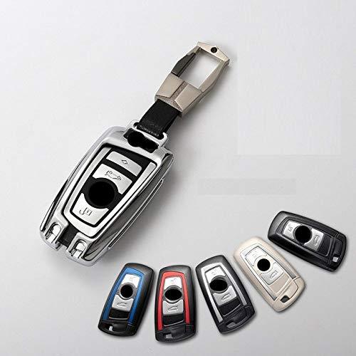 QND,Cubierta de la Llave del Coche,Car Styling Aleación de Zinc Nice Smart Key Case Holder Shell Bag para BMW 520525 F30 F10 F18 118i 320i 1 3 5 7 Series X3 X4 M3 M4 M5, Silver 03