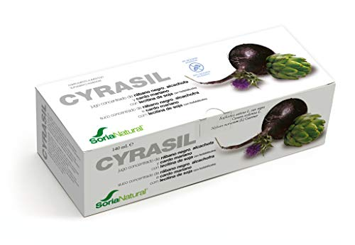 Soria Natural - CYRASIL - Depurativo - Mejora el funcionamiento del aparato digestivo y del riñón - 14 viales 140ml - Cardo mariano