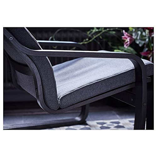 Tok Mark Traders POÄNG Poltrona nero-marrone, 68x83x100 cm resistente e facile da pulire, poltrone in tessuto, poltrone e chaise longue, divani e poltrone 68x83x100 cm Hillared, antracite