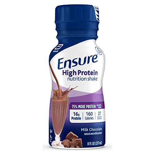 Ensure High Protein Nutritional Shake with 16g of Protein, Ready-to-Drink Meal Replacement Shakes, Low Fat, Milk Chocolate, 8 fl oz, 24 Count
