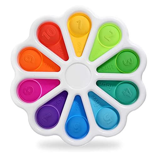 Fidget Toys, Fidget Toy Anti Stress Enfant, Pop Bubble Sensory Fijets Toys, Simple Sensorielle Fidjet Toys pour Anti Stress Adulte, Convient à Objet Anti Stress Autisme Et Inattention