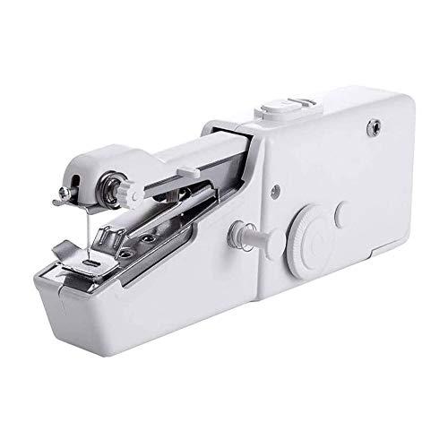 Lizipai Mini máquina de coser para principiantes, portátil, eléctrica, de mano, herramienta de puntada, para el hogar, manualidades, cortina de tela, bricolaje, uso doméstico y de viaje