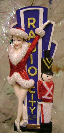 Kurt Adler 6' The Rockettes with Radio City Music Hall Marquee Christmas Ornament