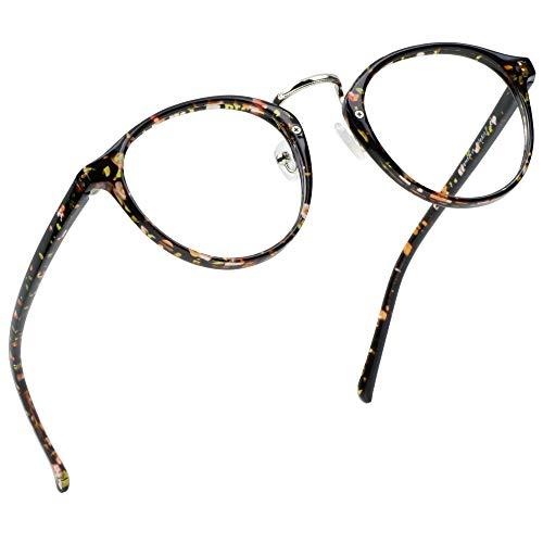 LifeArt gafas de anti-rayo azul, gafas de lectura en computadora, lentes transparentes, reducen dolores de cabeza y evitan los ojos secos, son estilos de moda adecuados para homres y mujeres +0.50.
