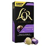 L'OR Café Espresso Lungo Profondo. 4 packs de 10 cápsulas cada uno. Total: 40 cápsulas.