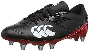 canterbury Men's Phoenix Raze Soft Ground Rugby Boots, Black (Black/True Red 989), 13 UK (48.5 EU) by Canterbury