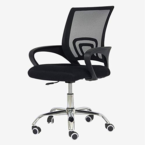 FTFTO Office Life Executive Recline Swivel Executive Chair, Ergonomic Backrest Thick Sponge Seat Comfortable Breathable Mesh Armchair Office Chair (Color : Black)