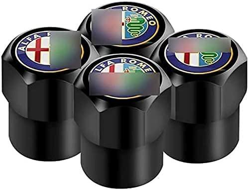 4 Piezas Tapas de Válvula de Neumáticos de Coche para Alfa Romeo 159 147 156, Anti Polvo Resistente Agua Tapas para Válvulas Decoración Accesorio