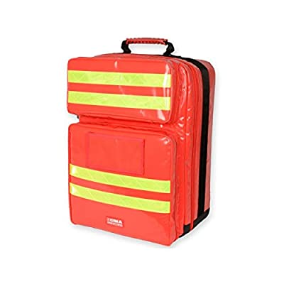 Gima - Silos 2 Rusksack, Backpack, Polyester PVC coated, Red Colour, Large Size, Dimensions 38x24x50 cm, for Rescuers, Trauma Doctors, Paramedics, First Aid and Civil Protection Professionals from Gima S.p.A.
