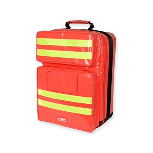 Gima - Silos 2 Rusksack, Backpack, Polyester PVC coated, Red Colour, Large Size, Dimensions 38x24x50 cm, for Rescuers, Trauma Doctors, Paramedics, First Aid and Civil Protection Professionals