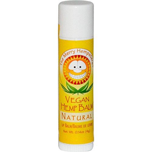 Joyeux Hempsters Vegan Chanvre Baume à lèvres naturel - 0,14 oz