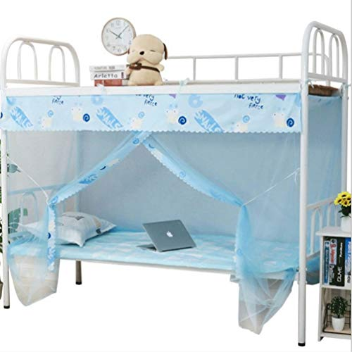 XGYUII Student Mosquito Net Bed Canopy Slaapkamer Eenpersoonsbed Bovenste Winkel onder Encryptie Stofdoek Voorkomen Insect Pop Up Bites voor Bed Travel Home Outdoor