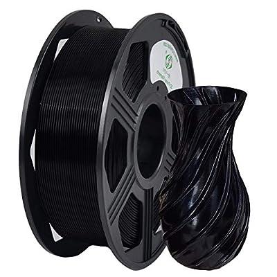 YOYI 3D Printer Filament, PLA PFilament 1.75mm 1KG (2.2 lbs) Spool, Dimensional Accuracy +/- 0.03 mm (Black)